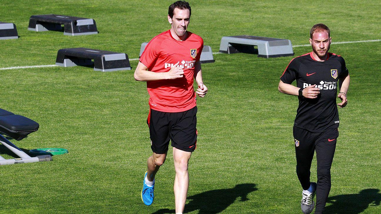 Diego Godín acelera su recuperación para llegar a Munich