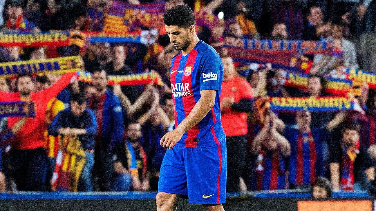 Luis Suárez se lesionó y será baja en Barcelona