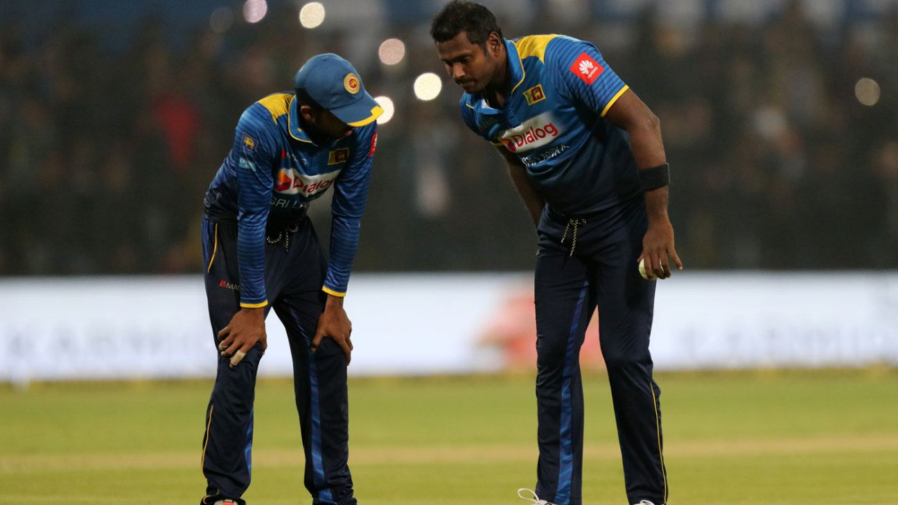 Injury sidelines Mathews for two ODIs
