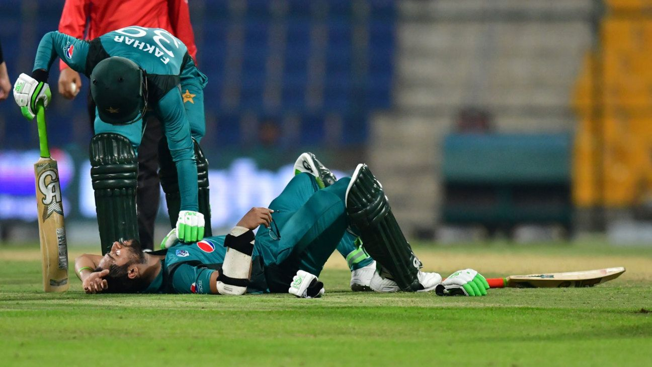 Imam-ul-Haq taken for 'precautionary tests' after helmet blow