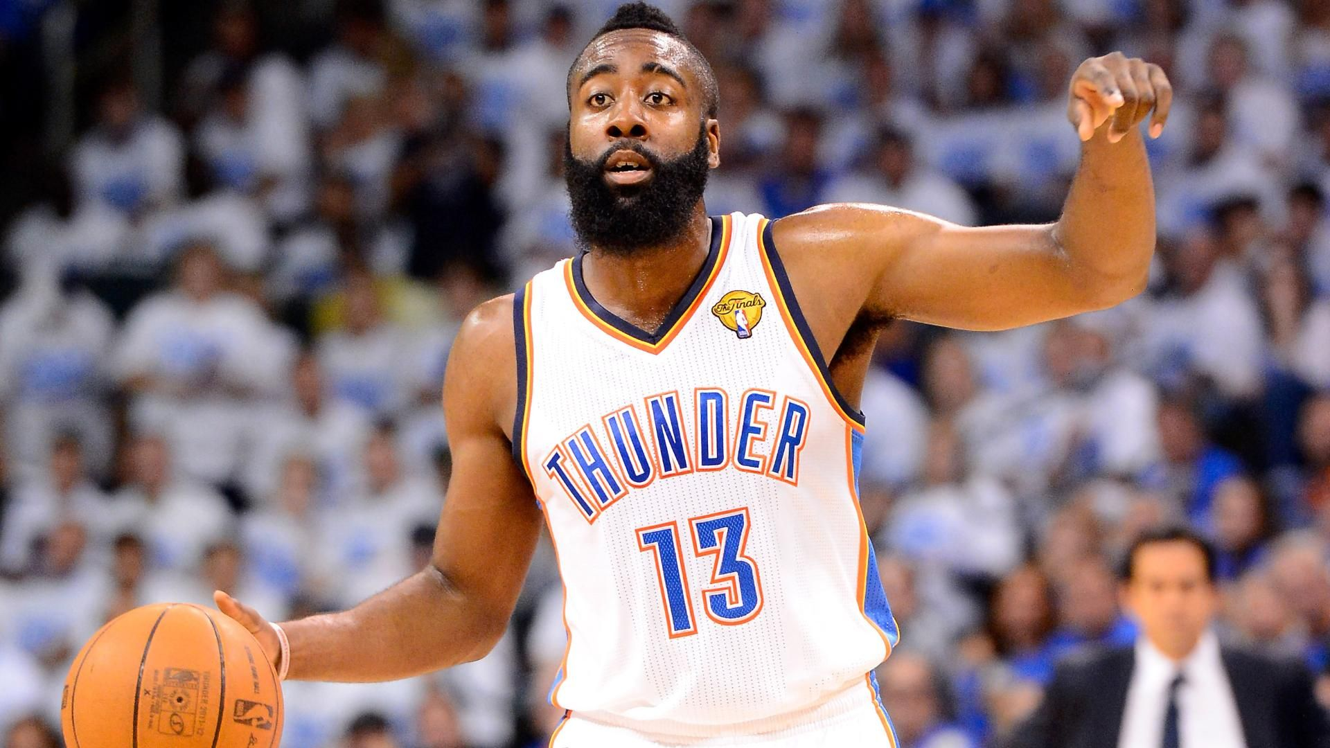 Guard James Harden is ...