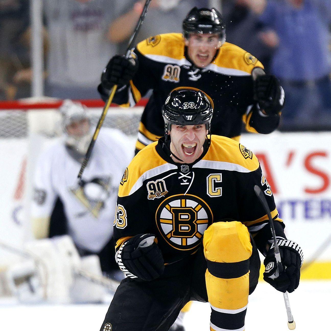Zdeno Chara Returns To Practice For Boston Bruins
