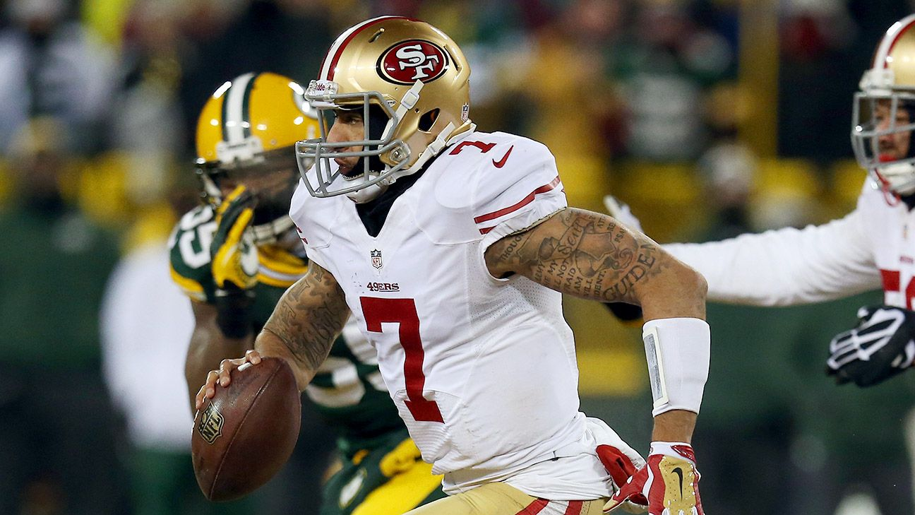 The 49ers have apologized for initially leaving Colin Kaepernick out of a photo gallery celebrating the team's history against the Packers.
