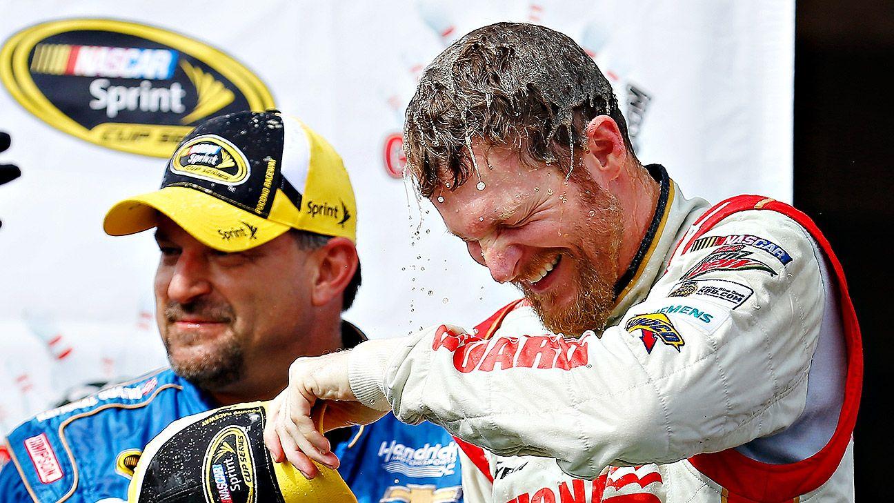 Nascar Dale Earnhardt Jr Sweeps Pocono For 2014