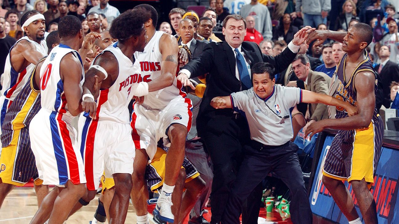 Malice at the Palace, a decade later - TrueHoop- ESPN