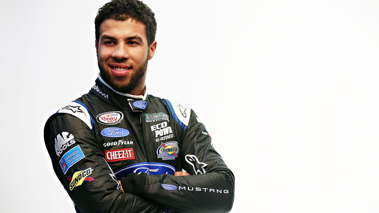 Darrell Wallace Jr. goes back to school with new helmet