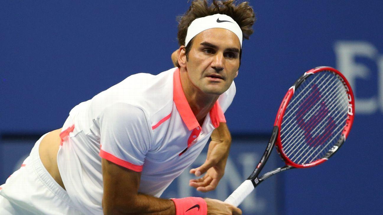 Half-volley return giving Federer tactical advantage