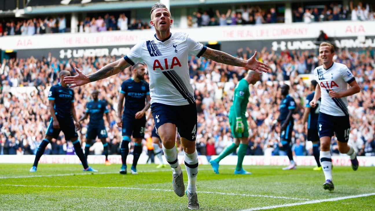 El Tottenham vence al invicto City y se coloca segundo a un sólo punto
