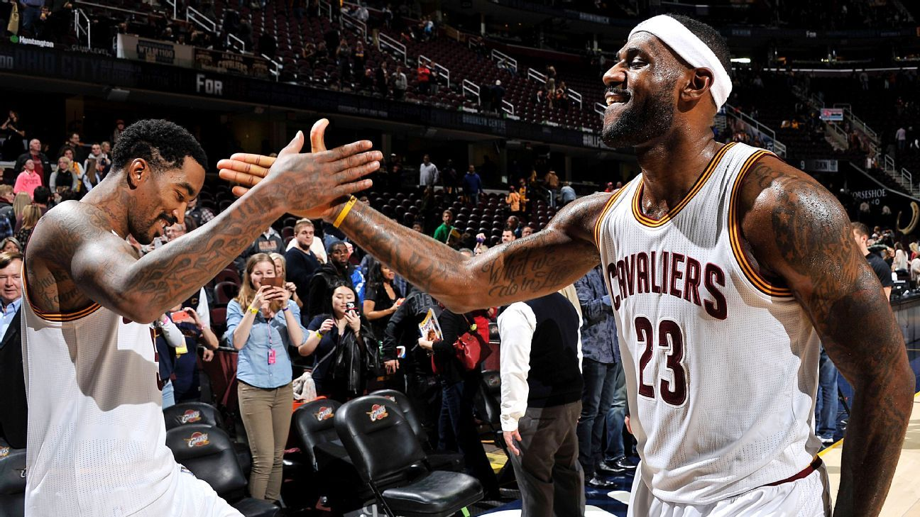 LeBron James, J.R. Smith share rare night in victory - Cleveland Cavaliers Blog- ESPN