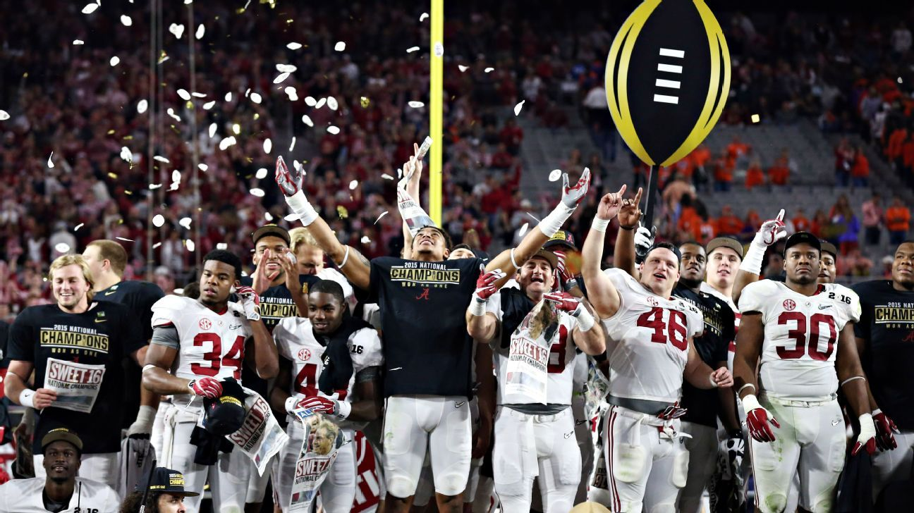2015-16 College Football Playoff and bowl schedule