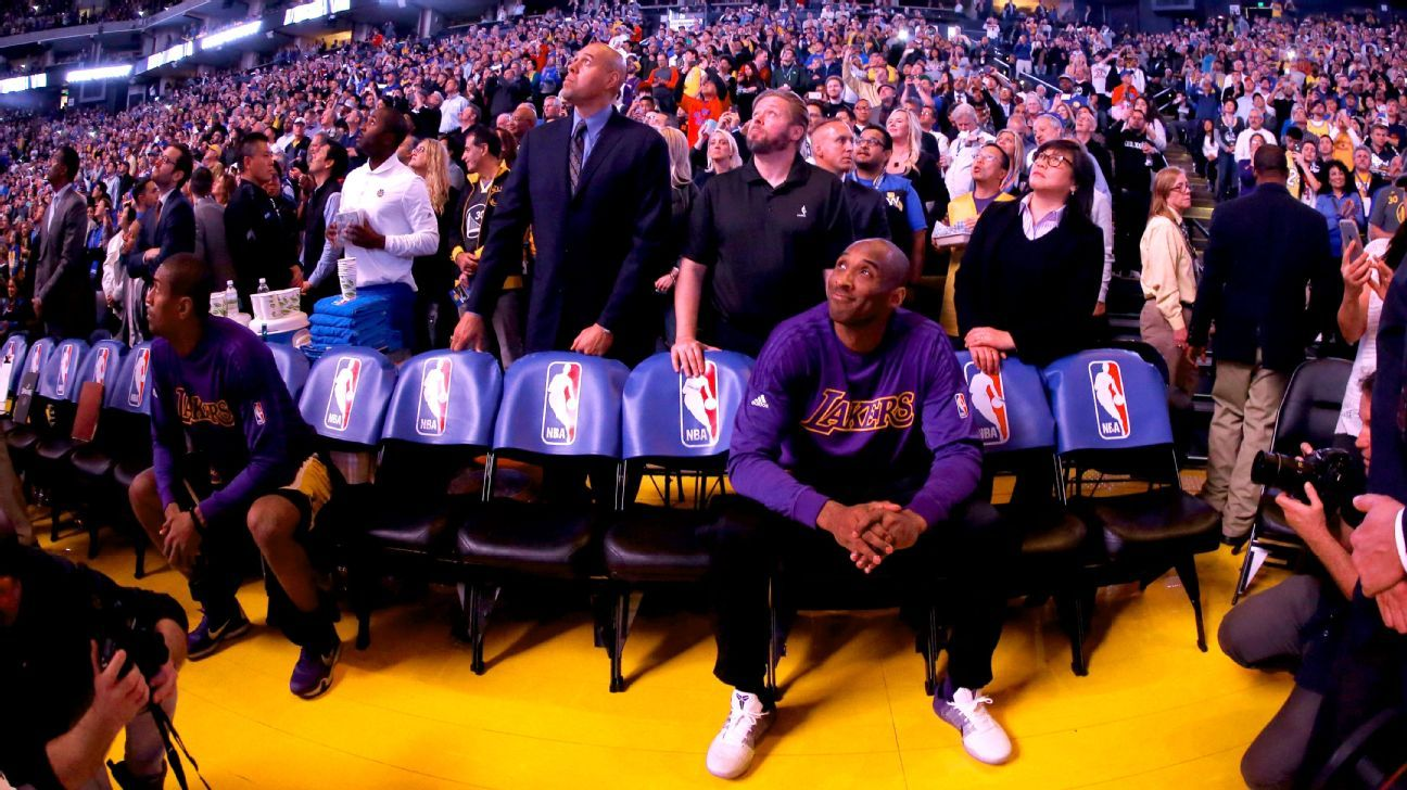 Emotional Kobe Bryant rendered helpless after tribute from Jerry West