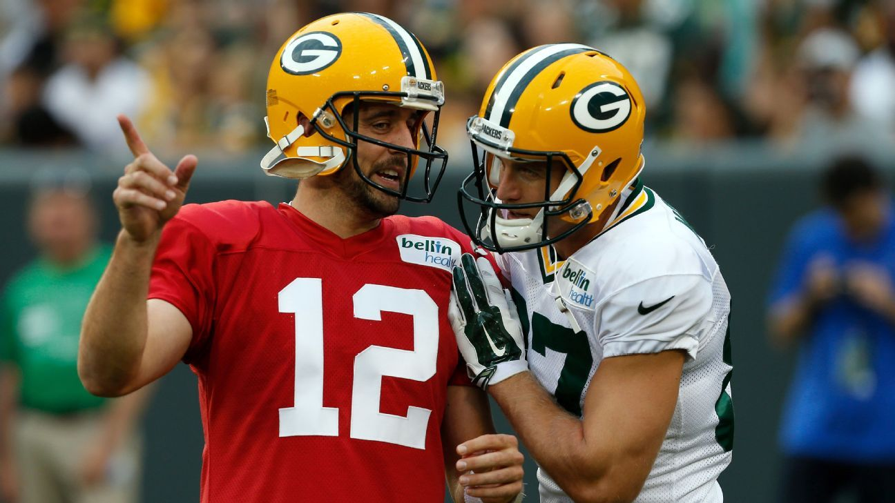Green Bay Packers Aaron Rodgers Chemistry With Jordy Nelson Is Good Green Bay Packers Blog Espn