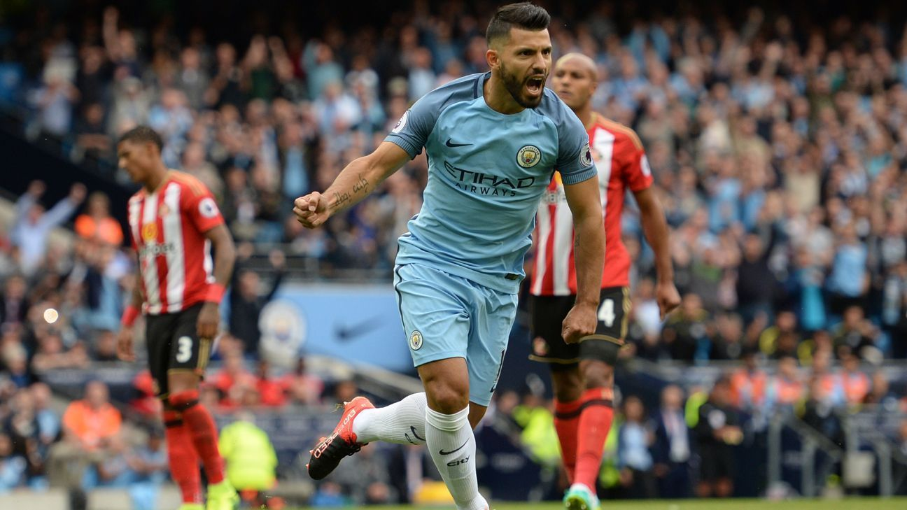 Image result for sergio aguero vs sunderland 2016