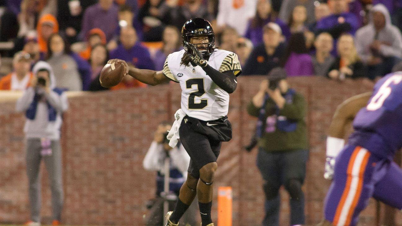Wake Forest has suspended projected starting quarterback Kendall Hinton and tight end Thomas Cole for the first three games of the season.