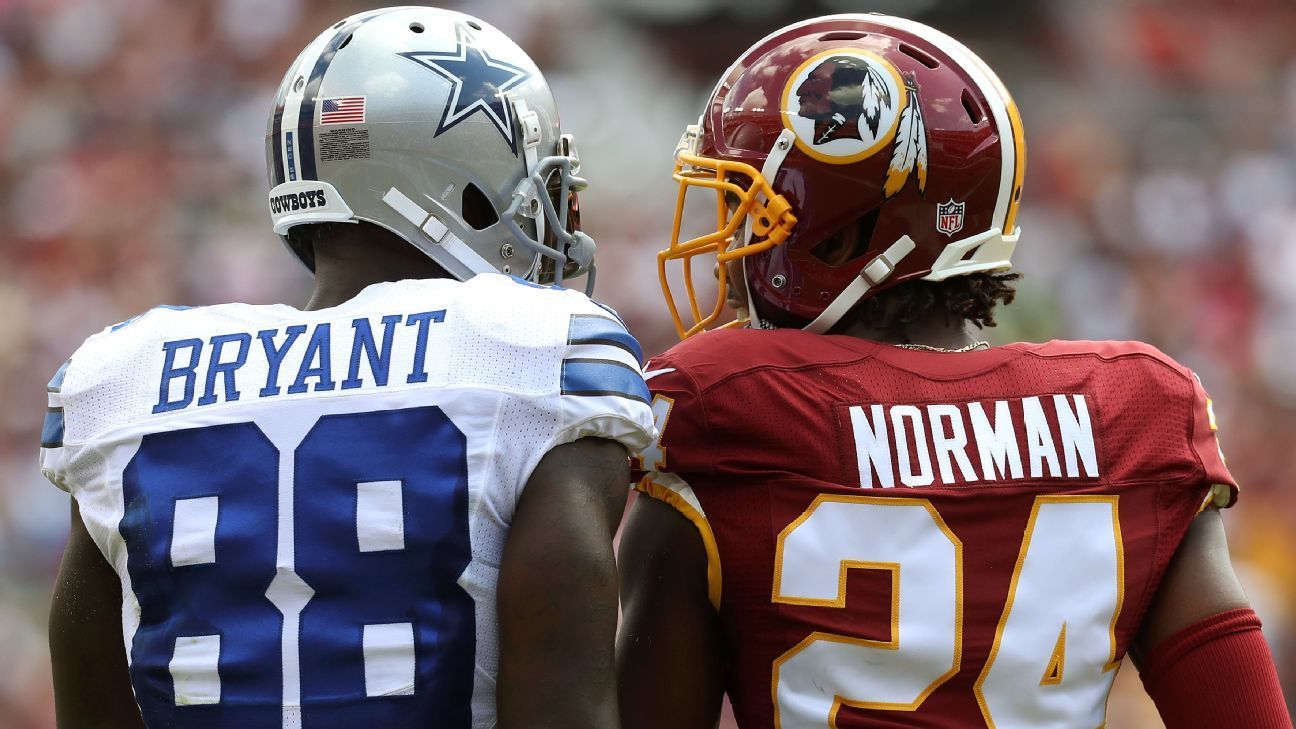 Redskins cornerback Josh Norman doesn't miss facing Dez Bryant when Washington plays the Cowboys, saying,