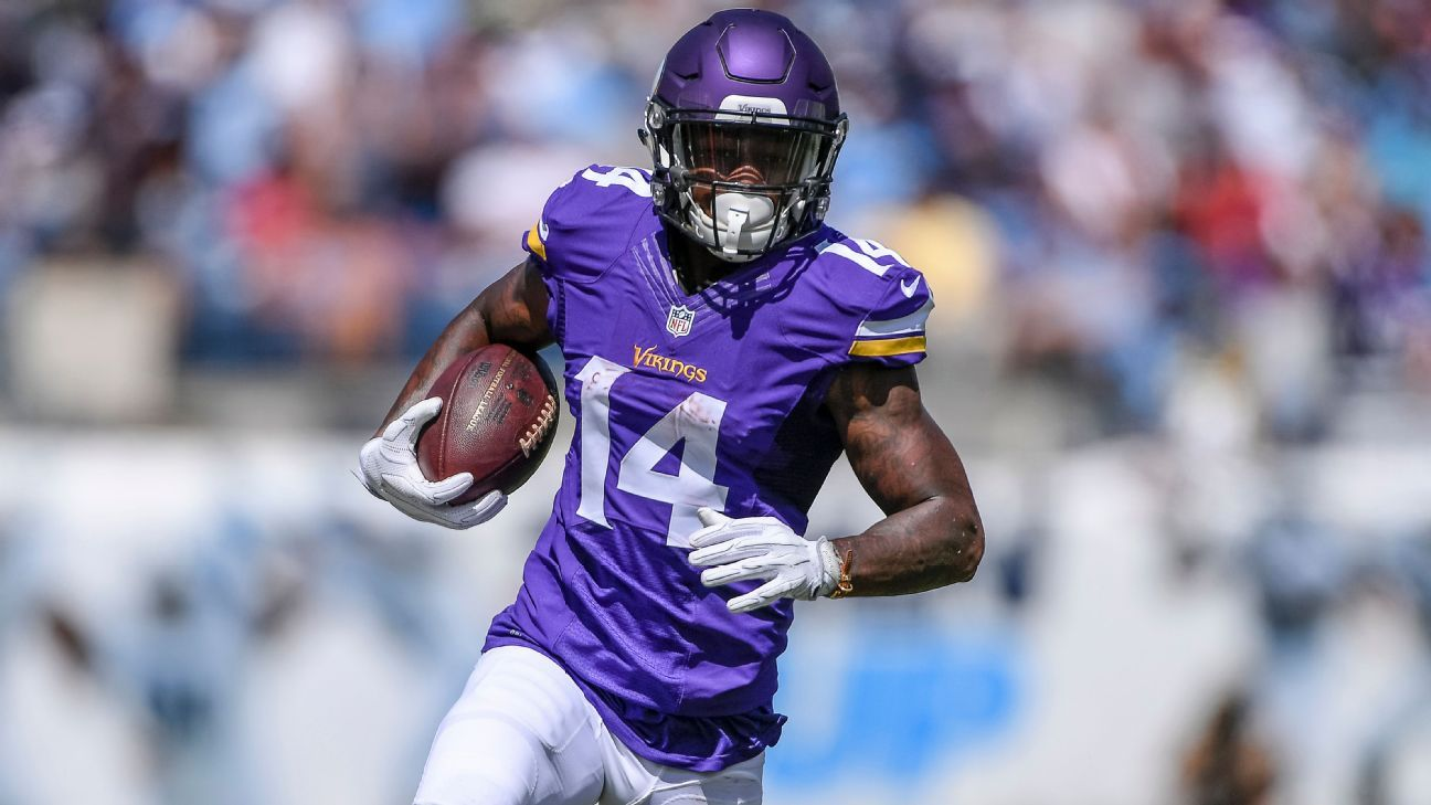Stefon Diggs (hip) out for Minnesota Vikings vs. Chicago Bears