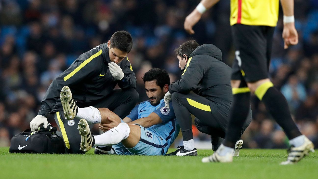 Ilkay Gundogan injury a massive blow for Pep Guardiola and
