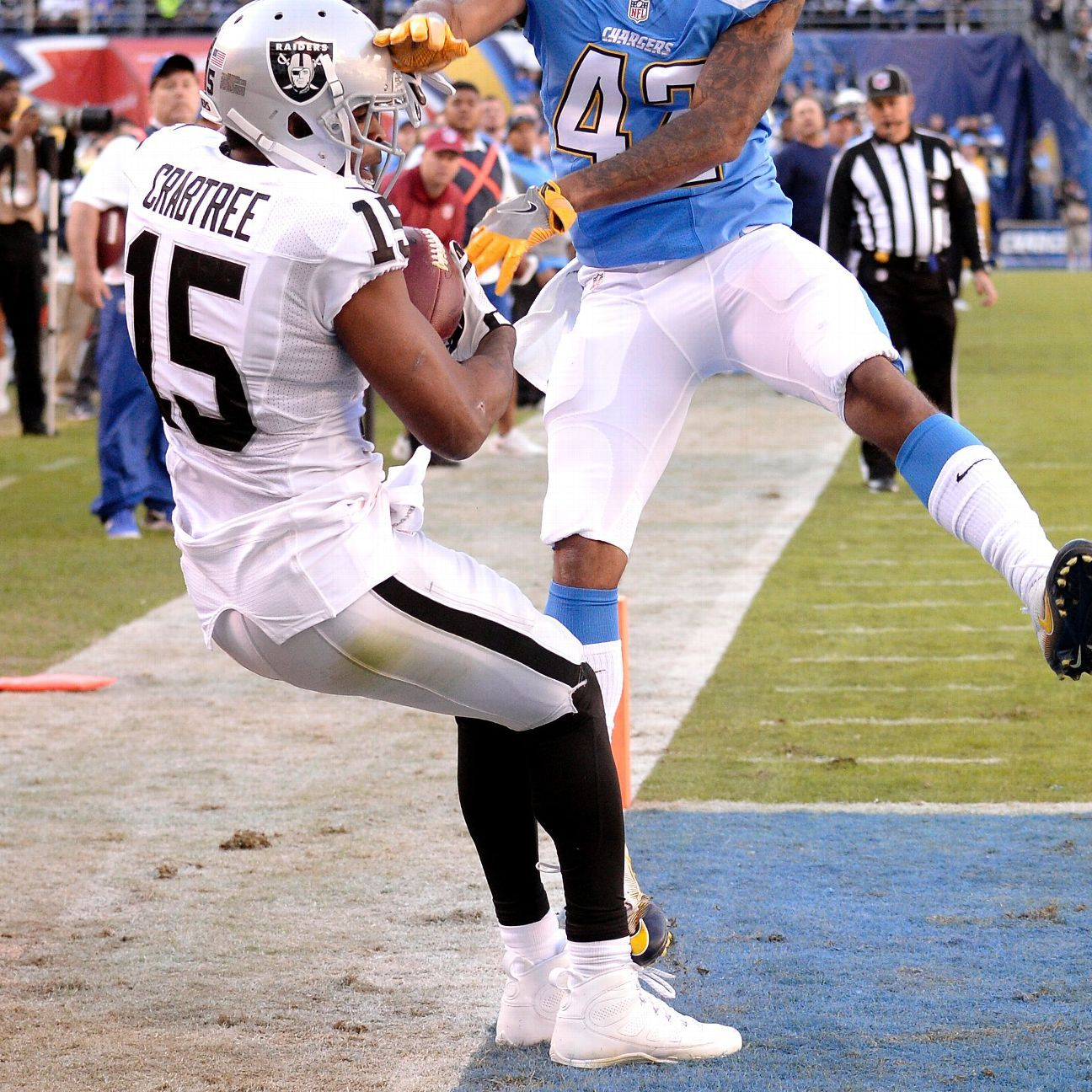 Michael Crabtree's 'Slice of Blue' catch is in Oakland ...