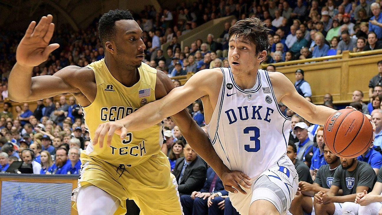 Allen back in Duke rout after 1-game suspension
