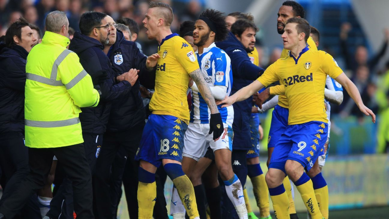 David Wagner, Garry Monk get bans for Huddersfield-Leeds melee