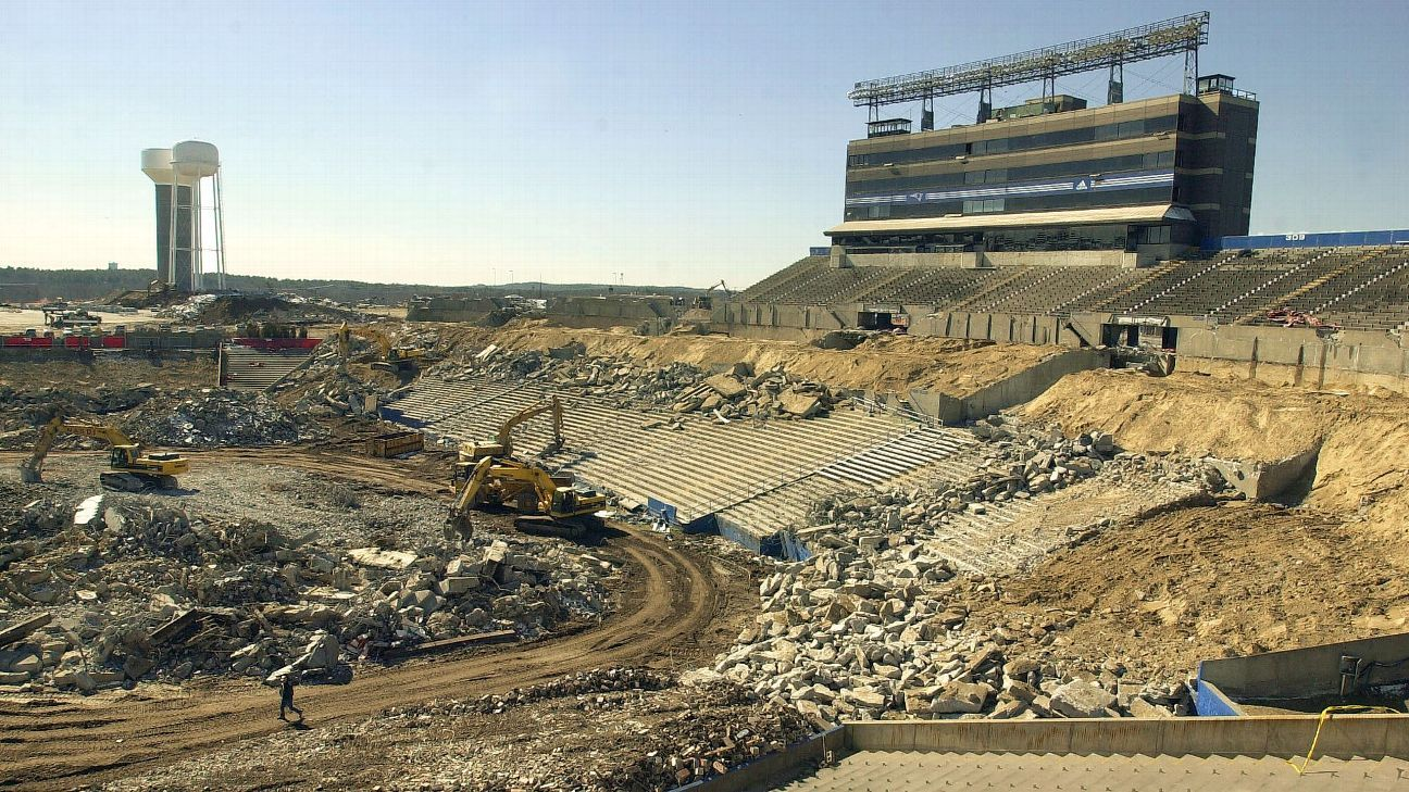 Foxboro Stadium was officially demolished 15 years ago ...