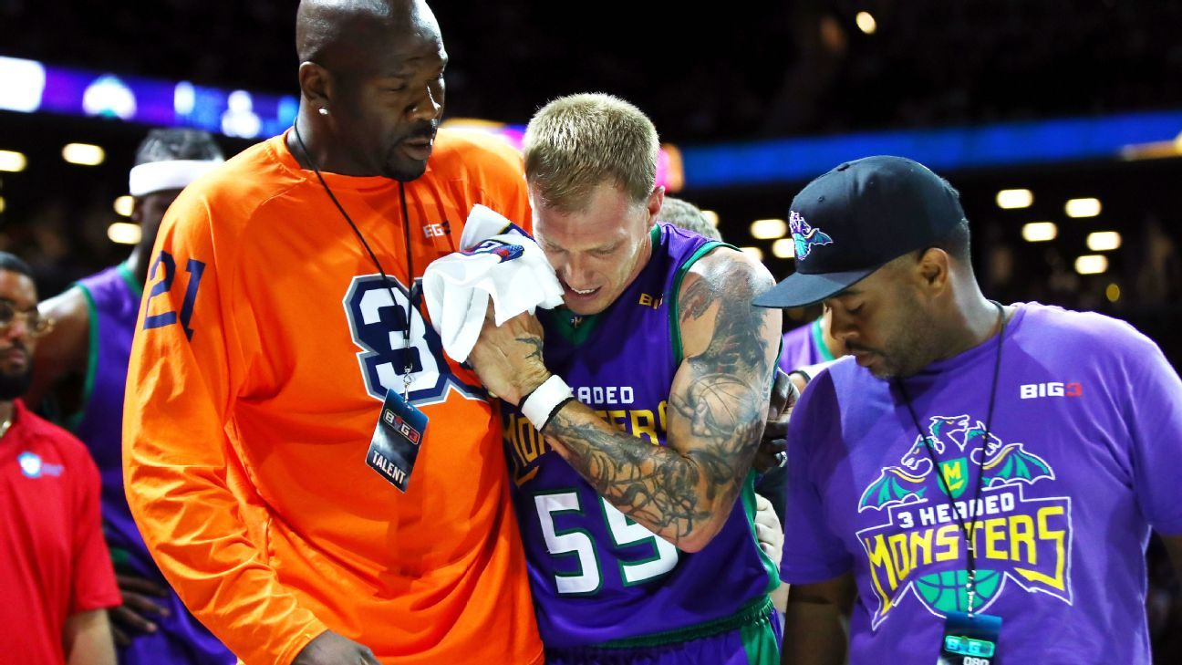 PG Williams injures leg as BIG3 League begins