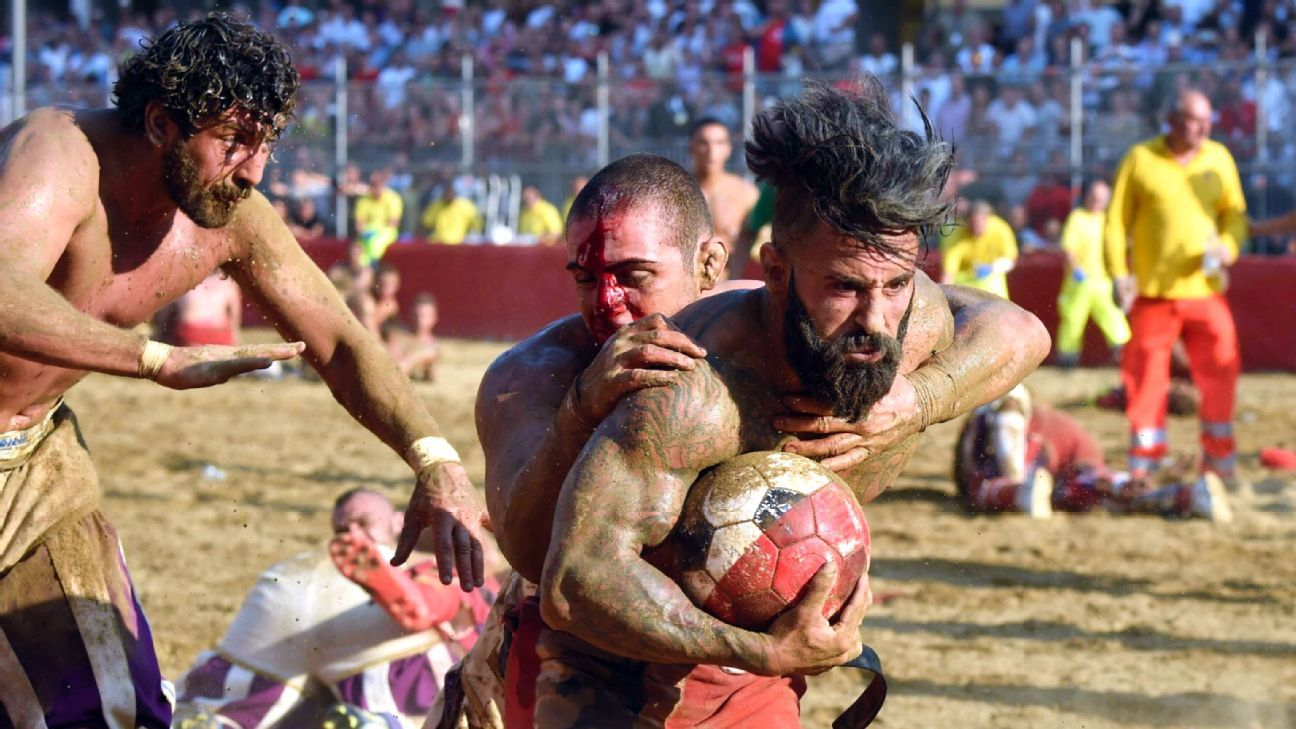 Italy's annual calcio storico tournament -- part football, part MMA -- is a brutal sight to behold
