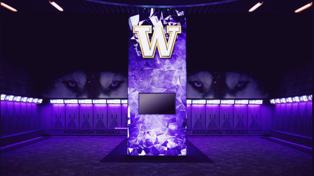 Washington Huskies Unveil New Led Filled Locker Room