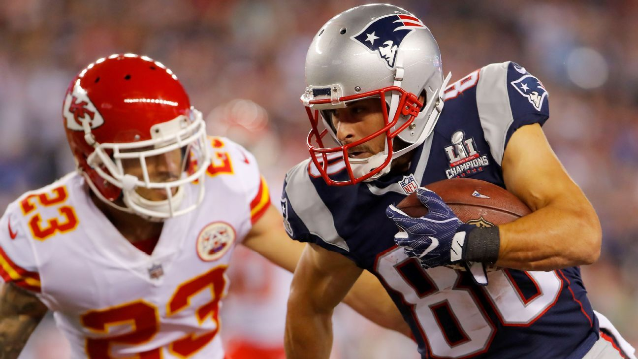 Patriots WR Danny Amendola leaves game with head injury