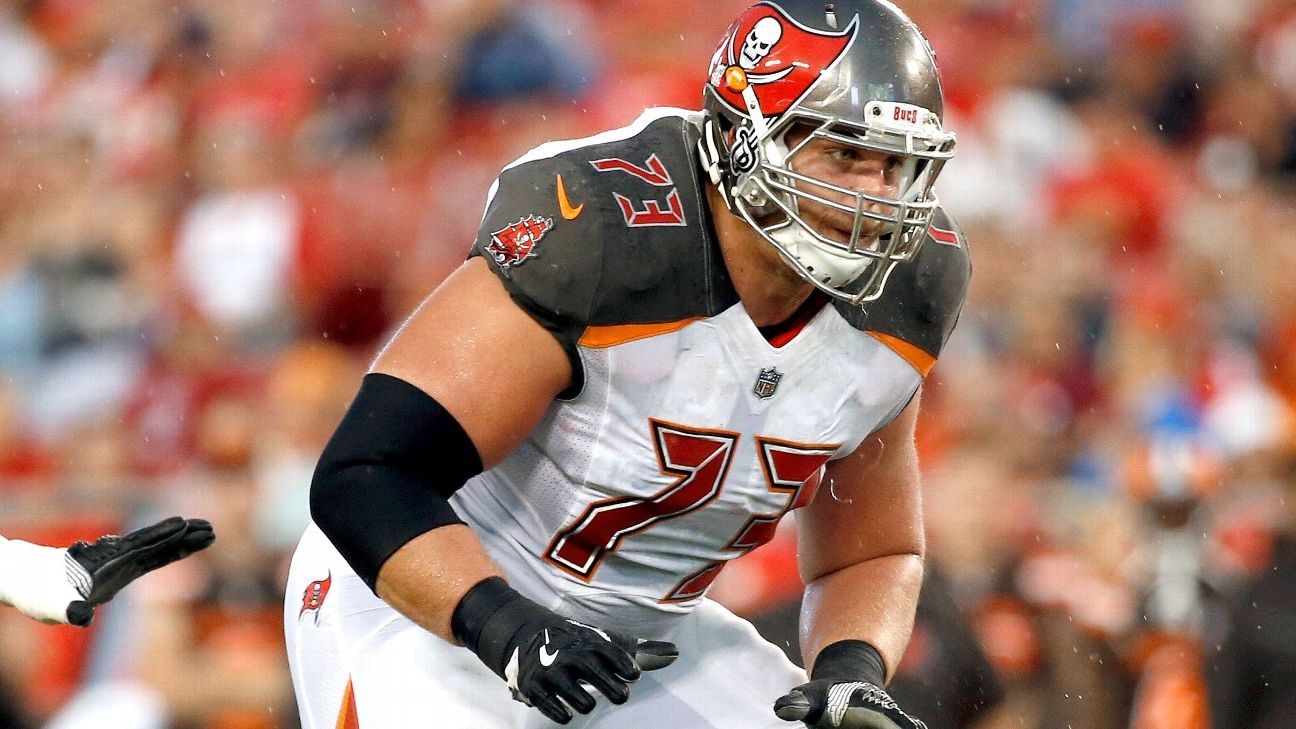 Right guard J.R. Sweezy, who was due to make $6.5 million after starting 14 games last season, has been released by the Buccaneers.