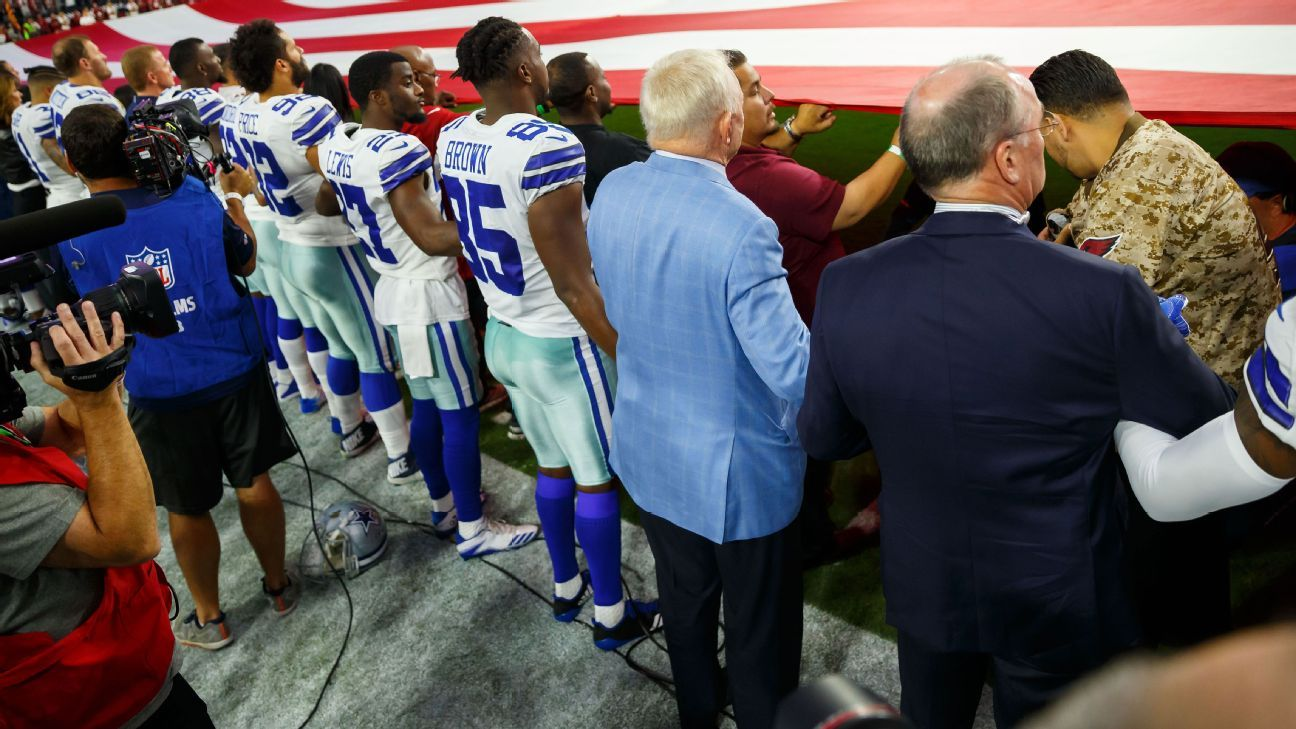 Jerry Jones: Cowboys will bench any player who 'disrespects' flag