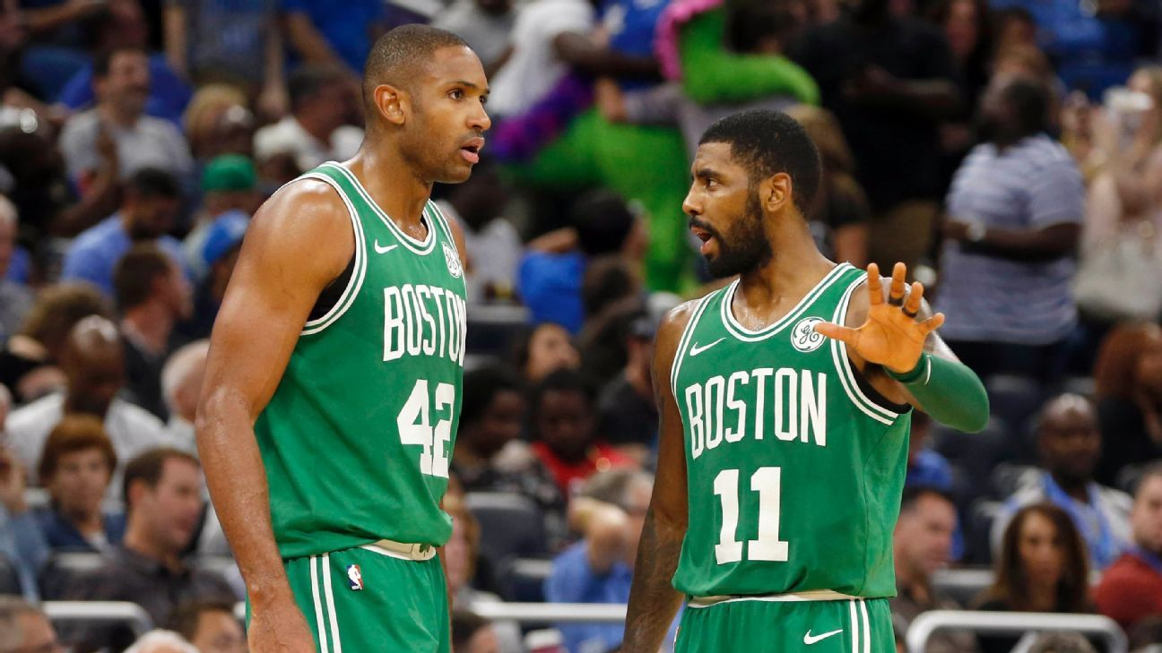 Kyrie and the Celtics are flat-out dominating on defense