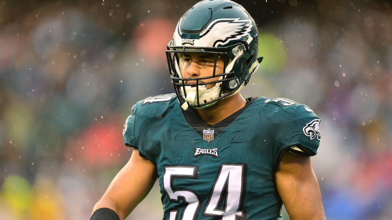 Philadelphia linebacker Kamu Grugier-Hill says he apologized to coach Doug Pederson for saying the Eagles' opponent this week, the Dallas Cowboys,