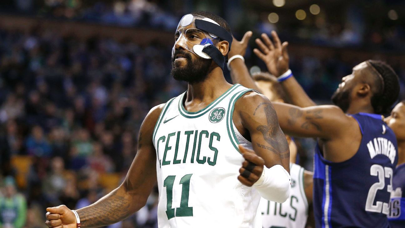 NBA -- Kyrie Irving again rises to challenge in Boston Celtics victory