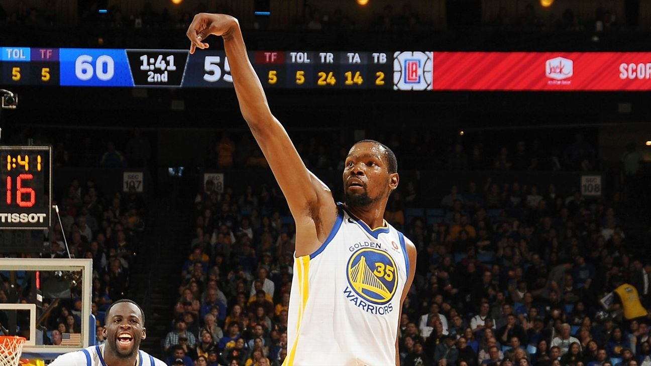 Kevin Durant of Golden State Warriors reaches 20,000-point milestone