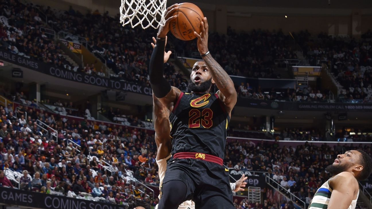 LeBron James of Cleveland Cavaliers records historic 40-point triple-double