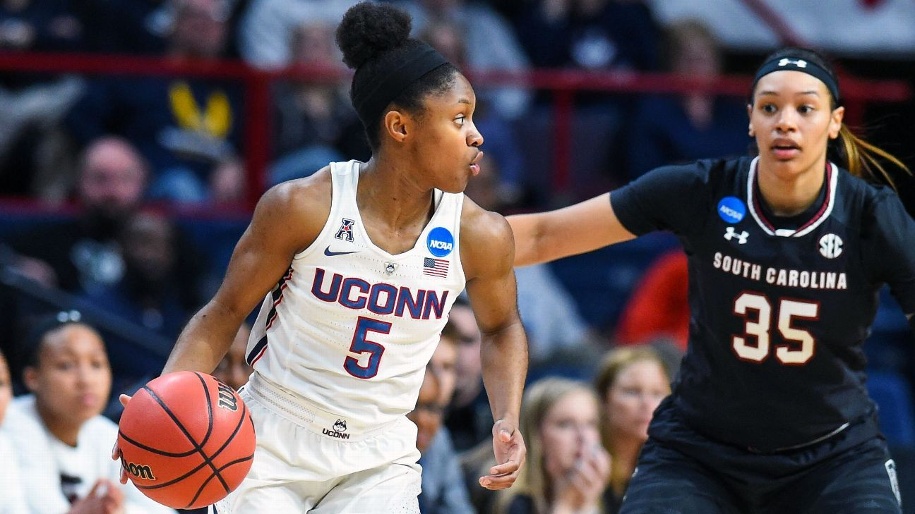 Women's NCAA tournament -- UConn Huskies rout South Carolina Gamecocks to head to 11th ...