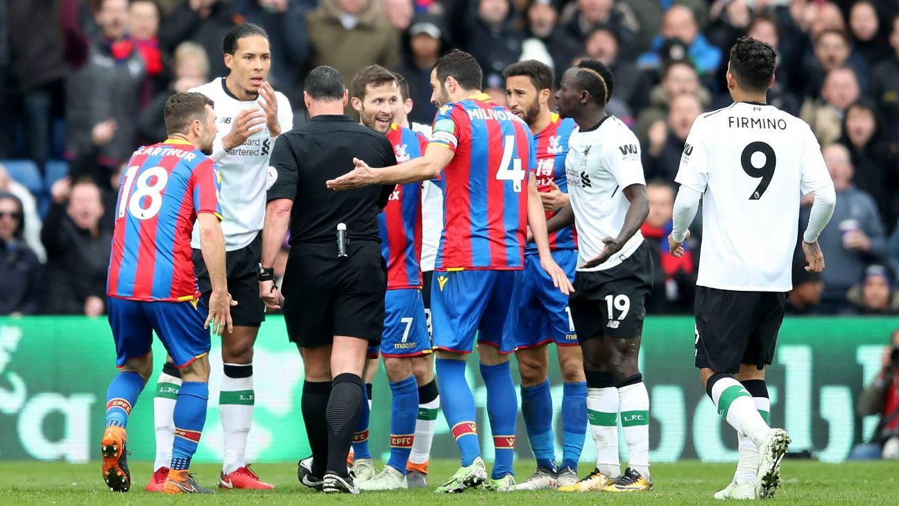 Salah hands Liverpool win, Palace fume as Mane escapes red