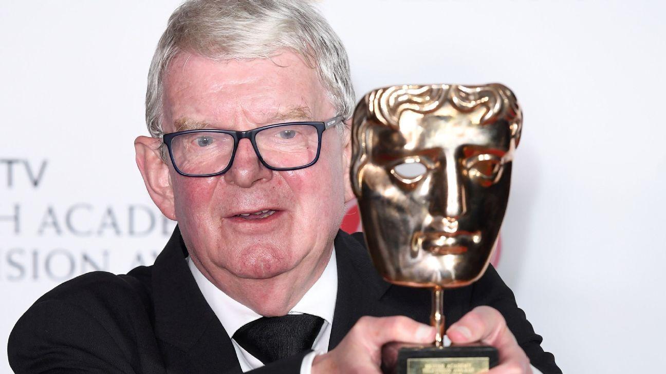 John Motson relives commentary gaffes in BAFTA acceptance speech