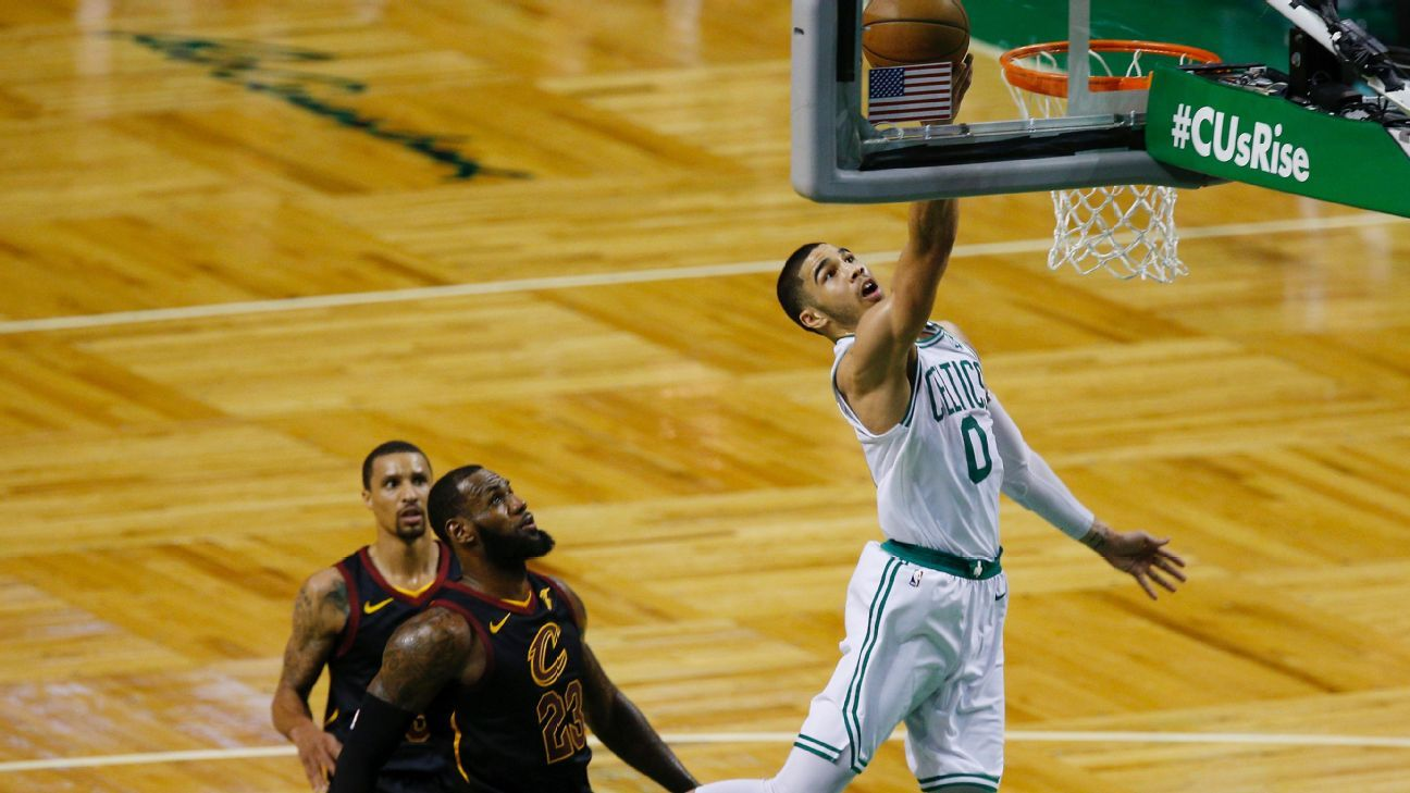 Celtics push Cavs to the brink as Tatum, defense spark Game 5 rout