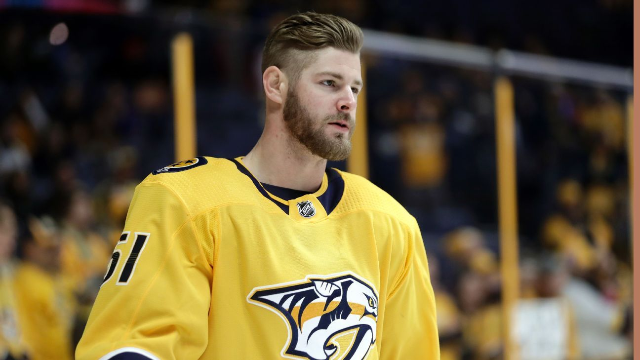 Nashville Predators' Austin Watson suspended for domestic assault