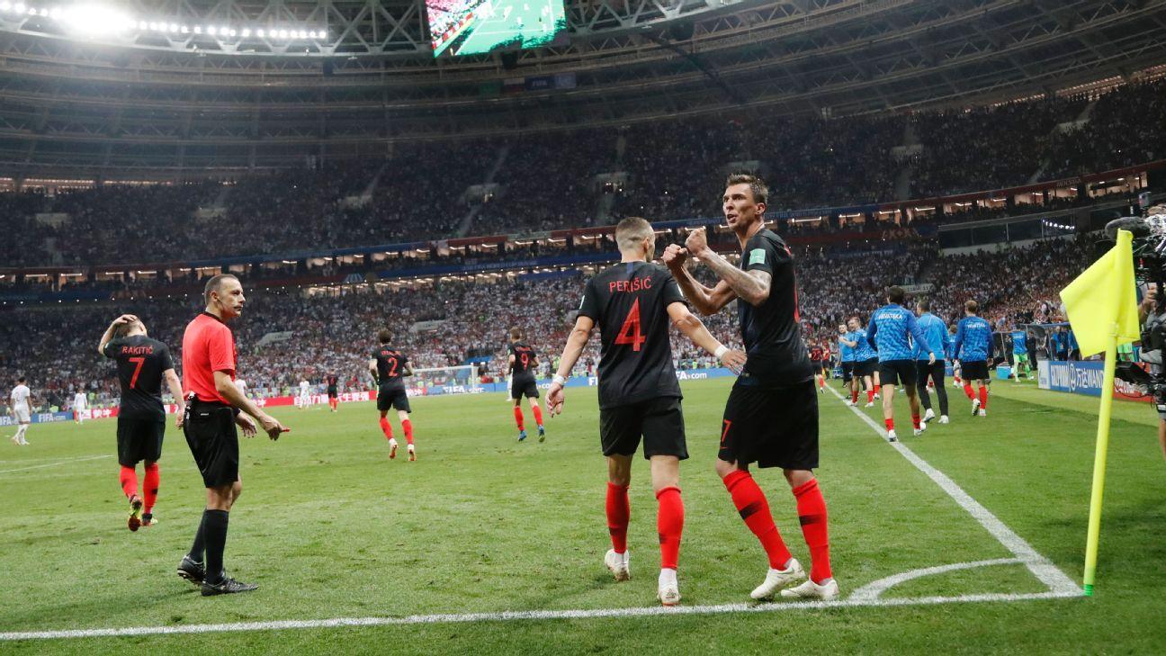 Inglaterra intentó empatar el marcador mientras Croacia celebraba