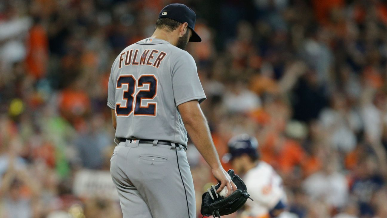 Tigers starter Michael Fulmer voiced his displeasure with plate umpire Pat Hoberg's strike zone following Detroit's 9-1 loss to Houston on Saturday, saying,