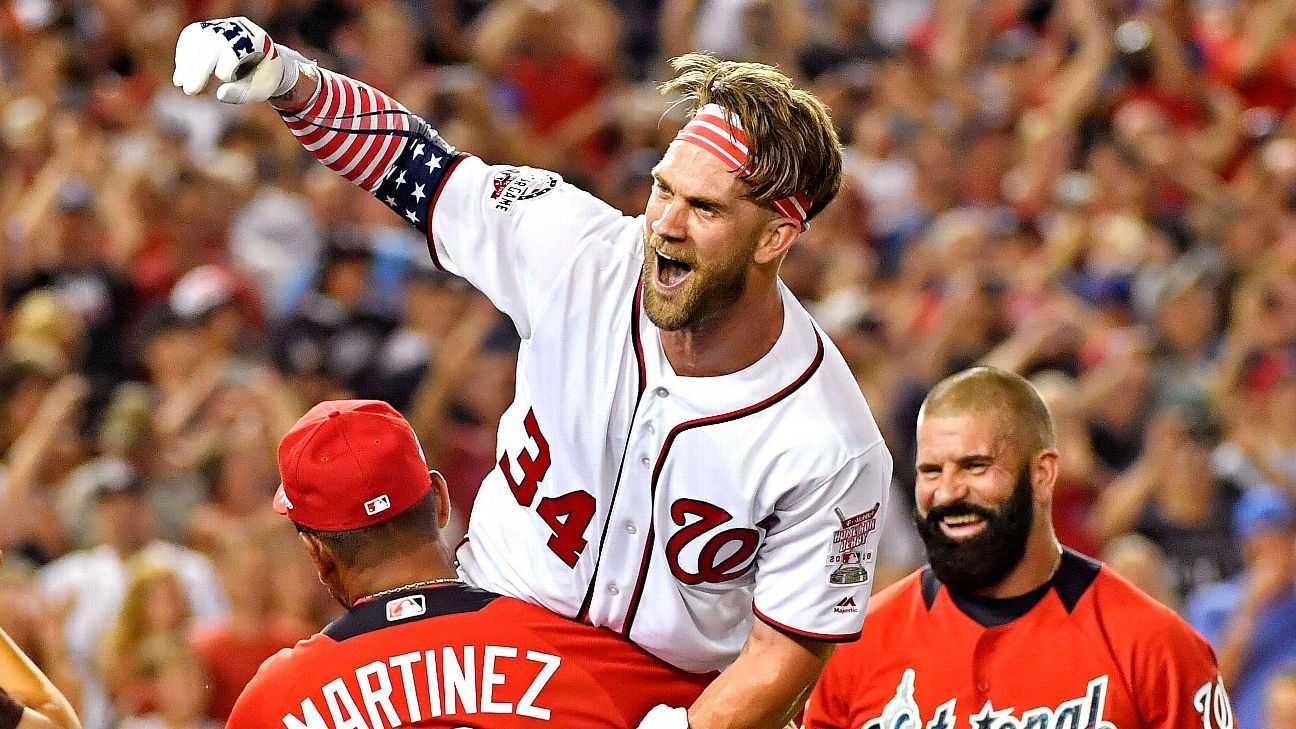 d18f25284f2 Bryce Harper not only gave Washington Nationals fans a treat by winning the Home  Run Derby at Nationals Park on Monday night