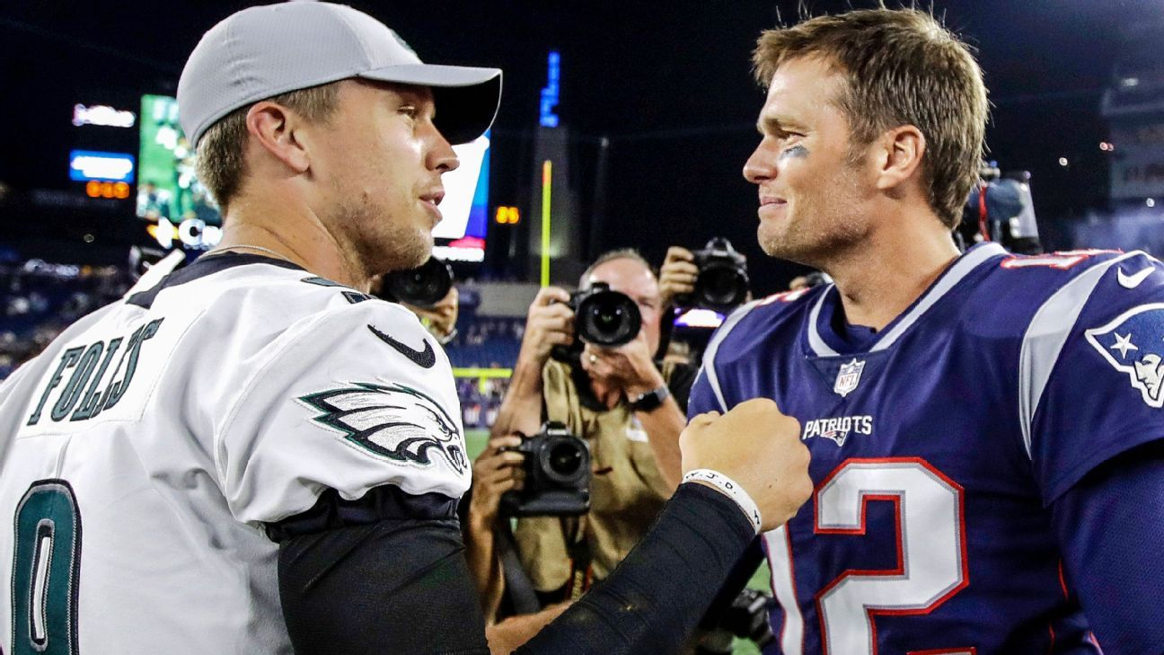 Are the Eagles and Patriots headed toward a Super Bowl rematch? Seth Walder runs through eight bold predictions for the 2018 season.