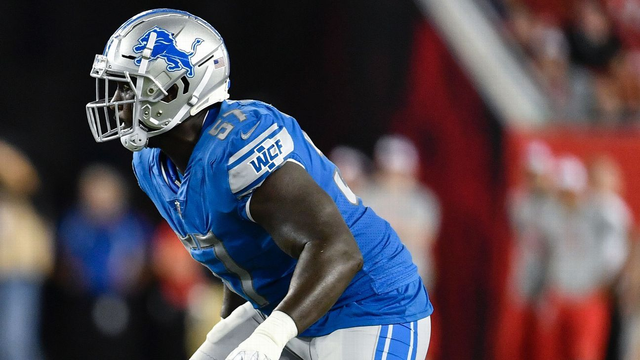 Eli Harold of Detroit Lions has Week 2 vs. San Francisco 49ers 'marked'