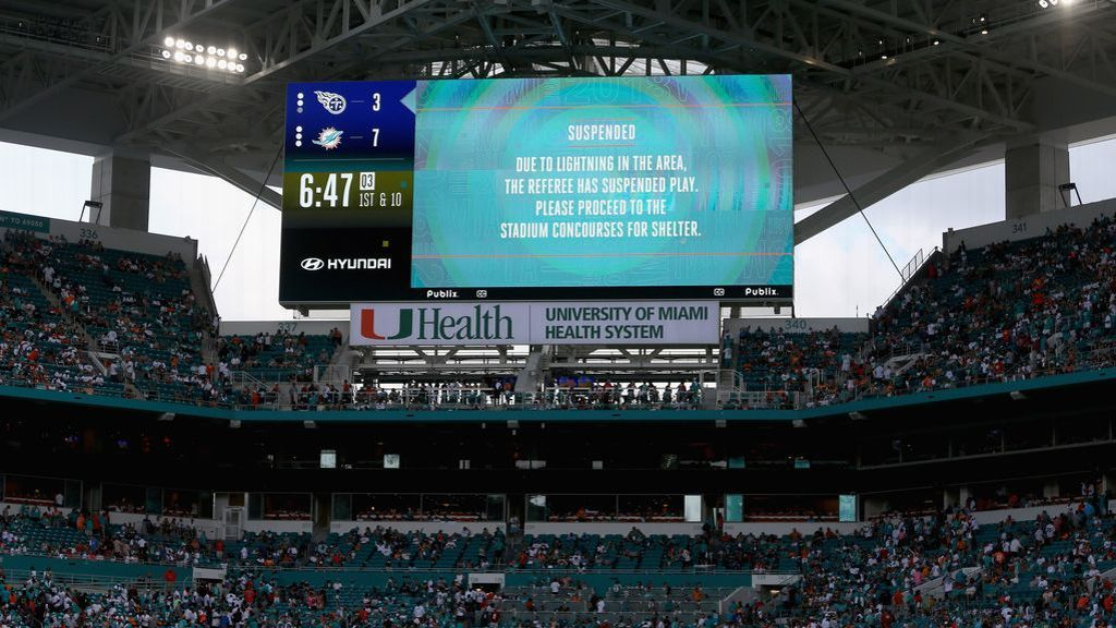 The Dolphins utilized a few huge plays to secure a 27-20 win over the Titans in what was the NFL's longest game ever: a 7 hour, 8 minute affair halted by multiple weather delays.