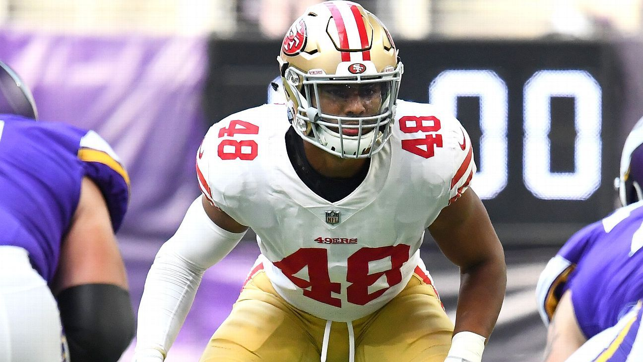 Ncaa Football Bowl Schedule >> Reuben Foster, Fred Warner give 49ers intriguing long-term linebacker duo - NFL Nation- ESPN