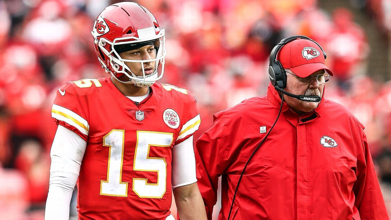 Nfl How Turbo Andy Reid Went All In On Patrick Mahomes With Andrew Smith Regular 5 Pockets Abu 34 Kansas City Chiefs