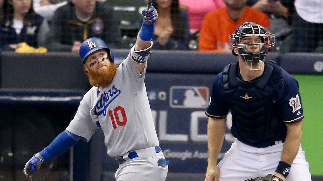 Justin Turner's two-run homer fueled a series-tying win in a Dodgers-Brewers series fulfilling its promise of a tight matchup.